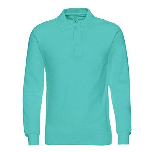 shirt Anguang 2 Pulsante Unisex Commerciale T Manica Top Lungo Camicetta Camicia Casuale Attività Polo Verde vrXcHrgq