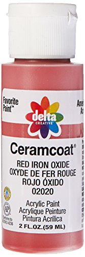 Delta Creative Ceramcoat Acrylic Paint in Assorted Colors (2 oz), 2020, Red Iron Oxide