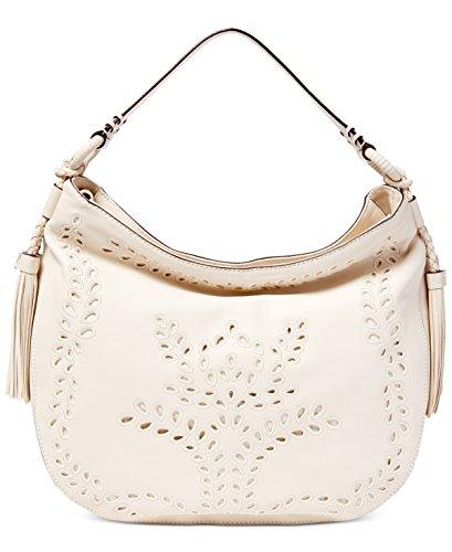 Womens Barlow Jamie Genuine leather Hobo Handbag White Large ()