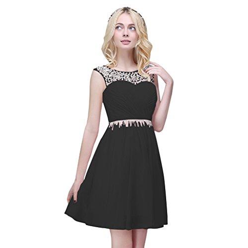 Vimans Womens Fashion Short Chiffon Evening Beaded Dresses Plus Size, CS