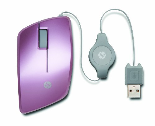 - HP Retractable Mobile Mouse in Retail Packaging - Pink