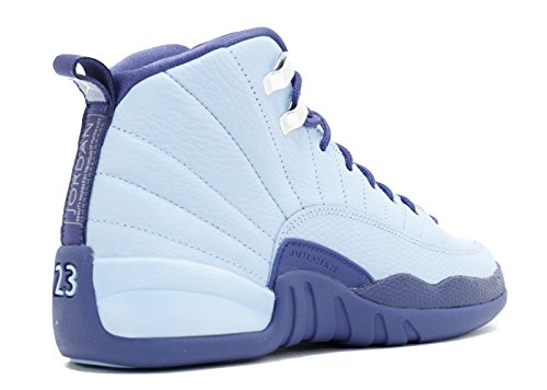 Nike Air Jordan Retro 12 HORNETS GS Youth Big Kids Bluecap/Dark Purple Dust/Metallic Silver 510815-418 (5.5) Lx7XQE