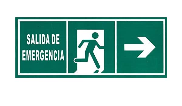 CARTEL PVC SEÑALIZACION AVISO SALIDA DE EMERGENCIA: Amazon ...