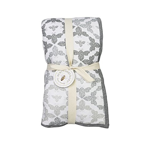 Burt's Bees Baby - Ombre Blossom Reversible Quilt, 100% Organic and 100% Polyester Fill (Heather Grey)