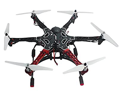 QWinOut 6-axis RC Aircraft Hexacopter DIY Helicopter RTF Drone with AT10 TX/RX 550 Frame GPS APM2.8 Flight Controller Battery (Assembled and Tested, No Manual) from QWinOut