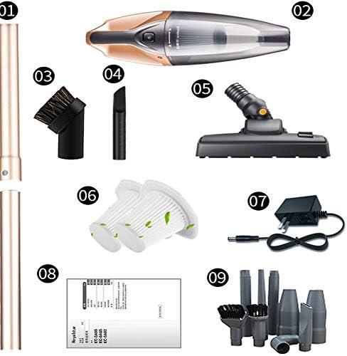 LAHappy Aspirateur Balai sans Fil sans Sac, 2 en 1 Aspirateur Puissant 5500Pa, Multifonctions Aspirateur Rechargeable Écran Tactile, 2200Mah Batterie Amovible