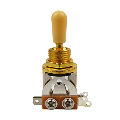 Musiclily Metric 3 Way Short Straight Guitar Toggle Switch Pickup Selector for Gibson Epiphone Les Paul Electric Guitar,Gold Top with Cream - Electric Paul Custom Les Guitar