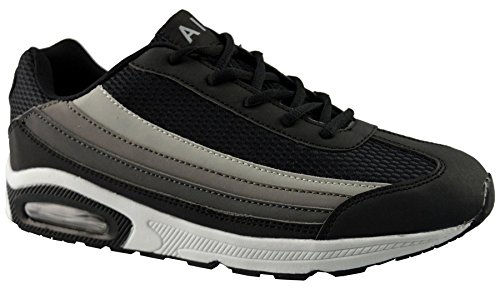 Air Tech Mens Synthetic Leather Running Shoes 11 Black 9ok0lHDSm