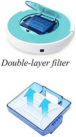HHRen Aspirateur Robot, Nettoyage à Sec Humide Robot, Fonctionnement de la télécommande, Aspirateur Autopetwaterer Cheveux, Tapis et Plancher de Bois Franc (2200 Mah),Bleu Blue