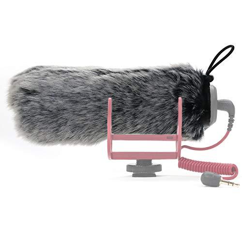 SUNMON Rode Deadcat Mic Windshield Fur Filter for Rode VideoMic Go Camera Microphone - Outdoor Mic Windscreen Wind Muff