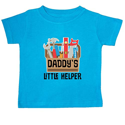 - inktastic - Daddys Little Helper Outfit Baby T-Shirt 12 Months Turquoise 355a0