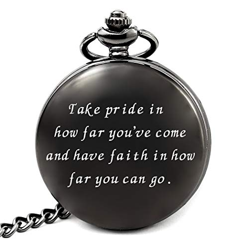 2019 Graduation Gifts for Him College or High School, Birthday Party Decorations Supplies, Christmas Gifts for Men Brother Son Grandson, Engraved Pocket Watch (Have Faith)