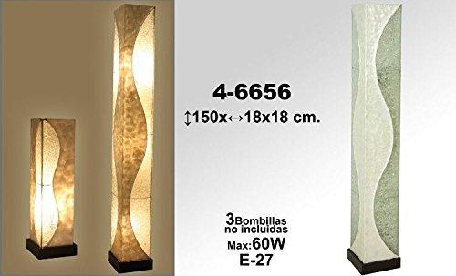 DonRegaloWeb - Lampara de pie con base cuadrada de fibra y ...