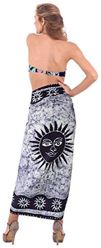 La Leela rayón suave mano del batik traje de baño de la playa del bikini falda encubrir 78x42 pulgadas Azul Amazon