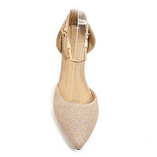 Coolcept Women Shiny Wedge Heel Sandals Closed Gold 9Skl6AsJo