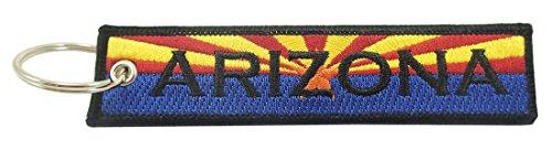 Arizona Flag Key Chain, 100% Embroidered