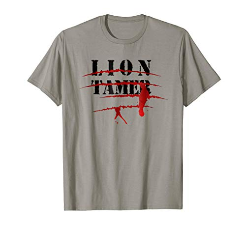 Lion Tamer Bloody Animal Attack Halloween Costume T-Shirt ()