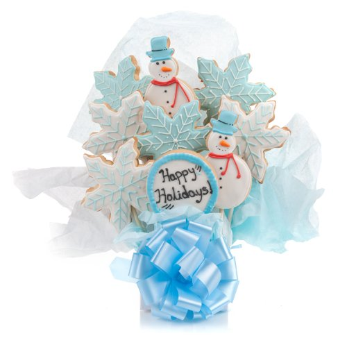 Winter Holidays Cookie Bouquet- 9 Pc Bouquet (Winter Bouquet Cookie)