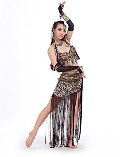 [2017 Handmade Luxurious Tribal Belly Dance Costume 2-Piece/Set Bra & Belt(34/75C;Leopard Print)] (Pictures Of Jazz Dance Costumes)