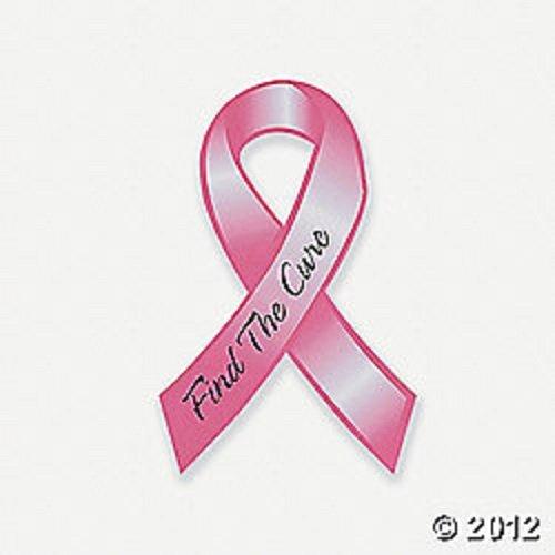 12 Pink Ribbon ~ Breast Cancer Awareness ~ Car Magnets - Dark Pink