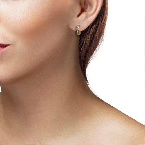 Goldmaid - Zi O2592GG - Boucles d'Oreilles Créoles Femme - Or jaune 333/1000 (8 carats) 1.6 gr - Oxyde de Zirconium