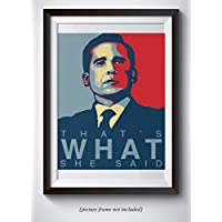 Michael Scott Funny Quote Poster - That's What She Said - 11x14 Unframed Print - Hilarious Office Decor - Great Gift For Fans Of The Office TV Show …