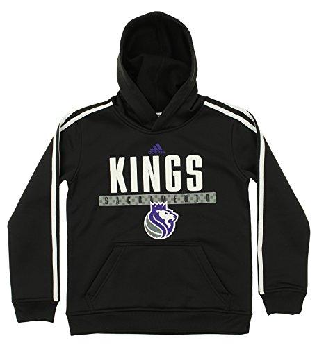 (NBA Sacramento Kings Youth Boys 8-20 Pullover Playbook Hood, Black, Large (14/16))