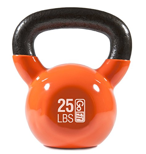 GoFit Premium Vinyl Dipped Kettle Bell With Introductory Training Dvd by