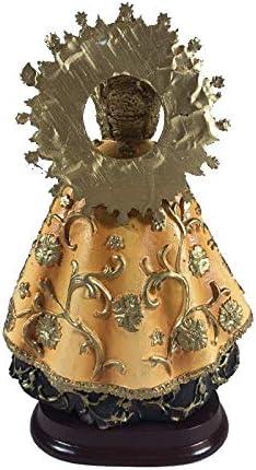 Figura Virgen Esperanza Macarena en Resina Pintada a Mano.18 cms. De Regalo una Cruz Patriarcal o de Caravaca y estampas de San Expedito, San Pancracio, San Judas Tadeo y San Miguel.