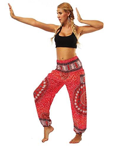 Estivi Pantaloni Stampato Libero Stoffa Pantaloni Baggy Di Harem nbsp; Pantaloni Donna Mandalas Yoga Moda Rot Tempo Pluderhose Grazioso Pantaloni qYtEwBf