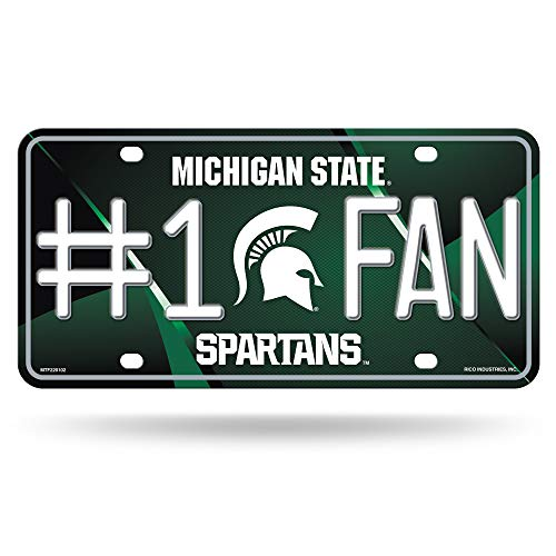 (NCAA Michigan State Spartans #1 Fan Metal License Plate Tag )
