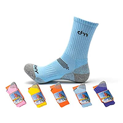DearMy 5Pack of Women's Multi Performance Cushioned Athletics Hiking Crew Socks | Moisture Wicking | Year Round: Clothing