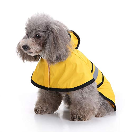 Fitfulvan Clearance! Pet Dog Hooded Raincoat Pet Puppy Jacket Outdoor Coat(Yellow,S) by Fitfulvan Pets (Image #3)