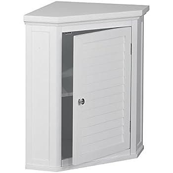 Amazon Com White Shutter Door Corner Wall Storage
