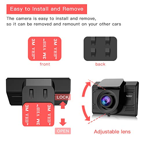 Dash Cam with GPS WiFi TOGUARD Full HD 1080P 2 45'' Car