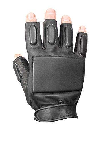- Rothco Fingerless Rappelling Gloves, Black, Large