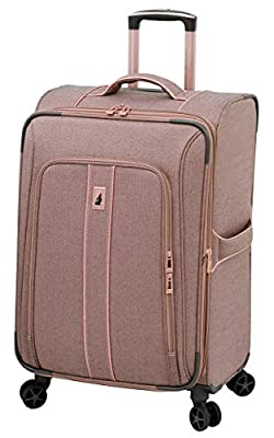 London Fog Newcastle 24 Inch Expandable Checked Spinner Luggage