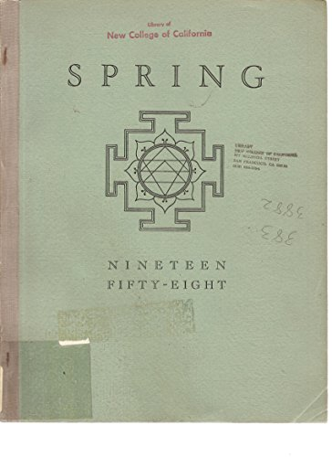 Spring 1958, A Publication of The Analytical Psychology Club of New York