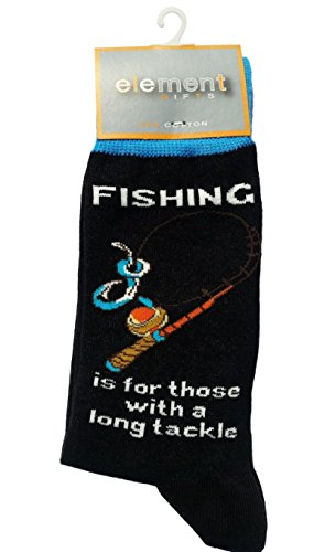Fishing is for those with a long tackle Cottonrich Unisex Novelty Ankle Socks Adult Size 6-11 ()