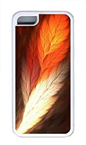 TYH - Feather Art Custom iPhone 5C Case Cover TPU White ending phone case