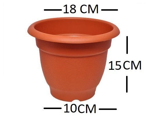 First Smart Deal 6 Inch Plastic Elegance Planter - Pack of 6