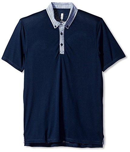 Howe Men's Freestone Short Sleeve Knit Polo, Navy Blazer, (Howe Mens Blazer)