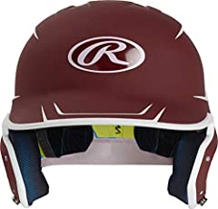 Today's pitchers throw harder, and shots off the bat are faster than ever. The Rawlings Mach Two-Tone Matte Batting Helmet is engineered to match the accelerated speed of the game. Its high-performance IMPAX padding absorbs and disperses forc...