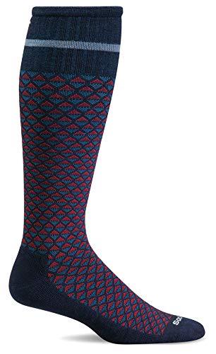 - Sockwell Men's Micro Mix Firm Compression Socks (Navy, M/L)