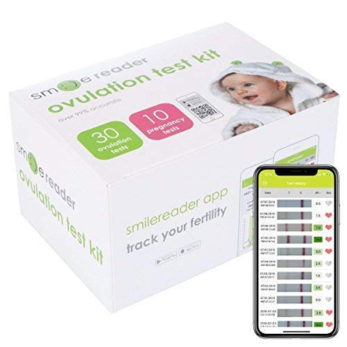 n Test Kit – 30-Pack Accurate Ovulation Strips – User-Friendly and Reliable – Set Includes 10 Pregnancy Tests – Bonus Free App for iOS and Android ()
