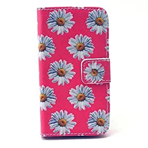 LCJ Cartoon Colored Drawing PU Leather Full Body Case with Kickstand and Card Slot for iPhone 4/4S