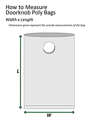 "Boxes Fast BFPBDK0916 Doorknob Bags, pounds Load Capacity, 16"" Length, 9"" Width, Thick, Clear (Pack of 1000)"
