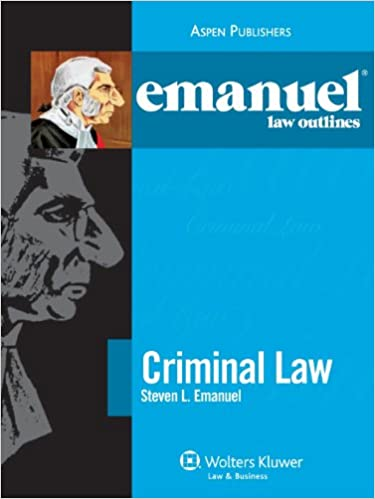 Download online Emanuel Law Outlines: Criminal Law PDF, azw (Kindle)