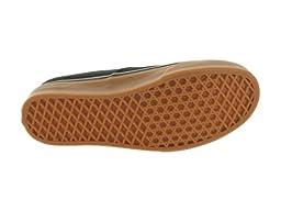 Vans Unisex Authentic Black/Rubber Skate Shoe 9 Men US / 10.5 Women US
