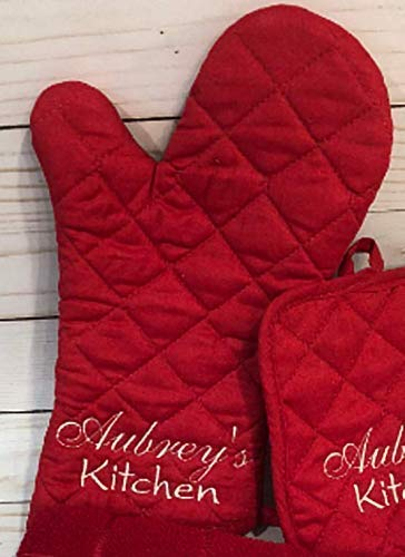 Personalized, Embroidered Oven Mitt